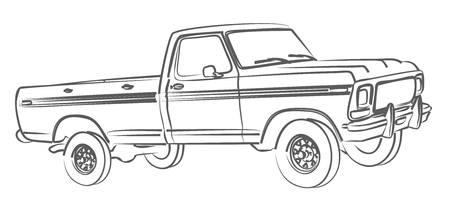 Drawing Of A Truck Stock Photos And Images 123rf