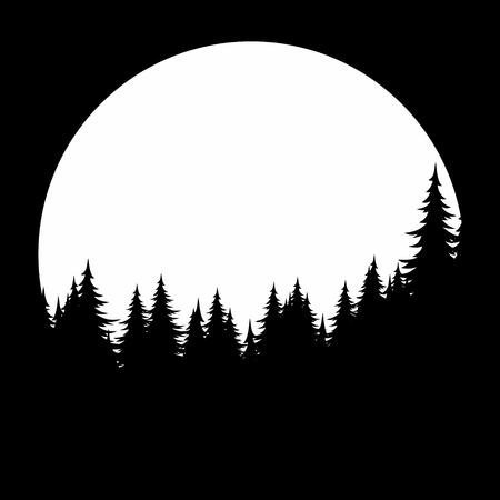 わがいの森と太陽の夜明けの背景。