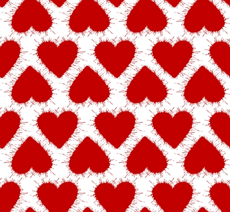 A seamless background with red hearts. Illustration