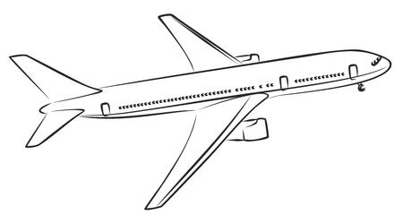 Sketch of passenger liner. Illustration