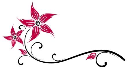 Symbol of red flower.