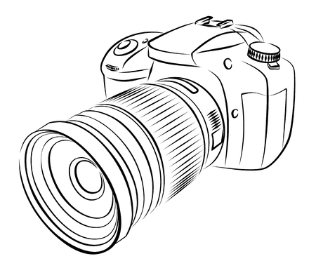 A sketch of the digital camera.