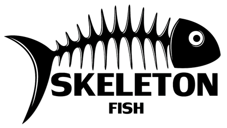 A symbol of Skeleton of big predatory sea fish.