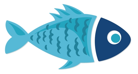 Symbol of a blue small fish.