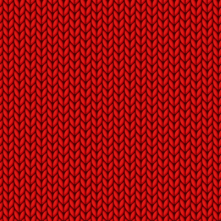 The Seamless red knitted background. Illustration