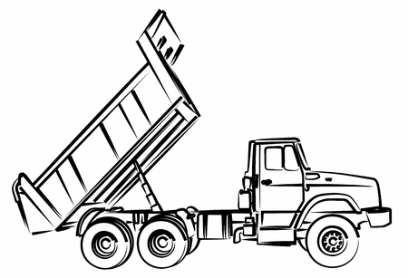 Sketch of the dump truck.