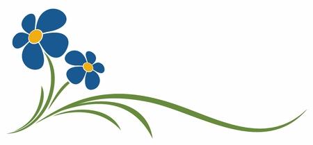 The symbol of blue field flower.