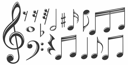 The set of the music notes.