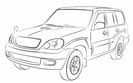 Sketch of the SUV.