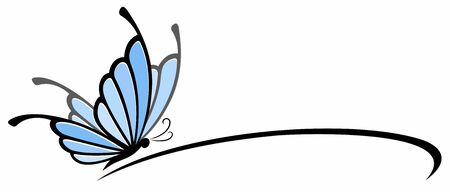 A symbol of the blue stylized butterfly.