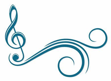 A symbol of a treble clef.