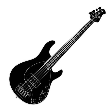 Sketch of a classical variety electric guitar. Stock Vector - 131699821