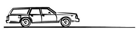 The Symbol of a big retro car. Ilustração