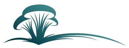 The symbol of forest stylized mushrooms.