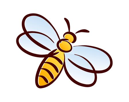 Symbol of a wild stylized bee.