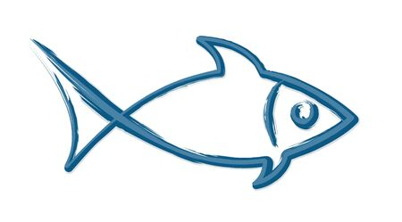 The Symbol of blue sea fish.