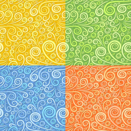 The Set of Seamless backgrounds with pattern.