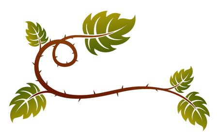 A symbol of a barbed plant with leaves.