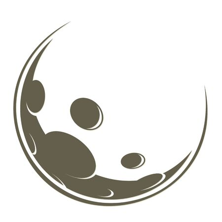 The symbol of the stylized moon.