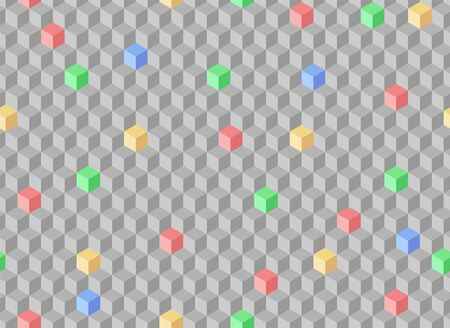 Seamless gray background with geometric pattern.