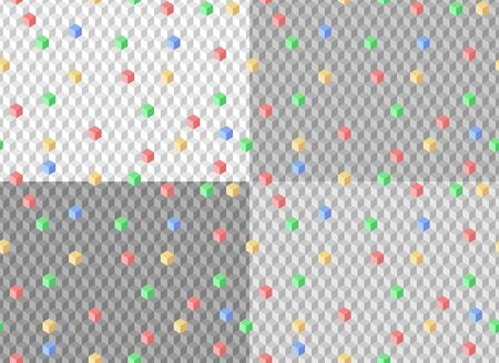The set of Seamless gray backgrounds with geometric pattern.