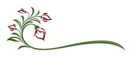 A symbol of a stylized garden rose.
