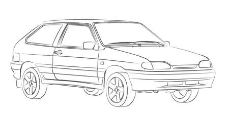 The Sketch of sports car.