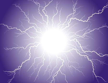 Lightning strike in the night sky.