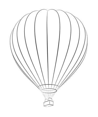 A sketch of the big hot air balloon.