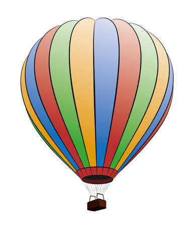 A sketch of the big color hot air balloon. Illustration