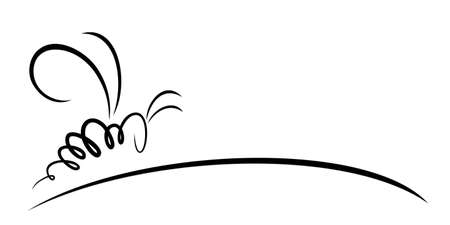 Symbol of a wild stylized bee. Illustration