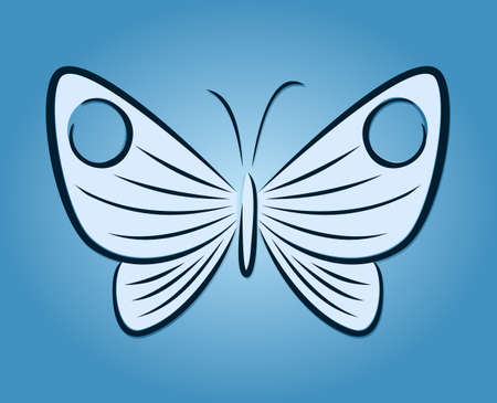 A symbol of the stylized butterfly.