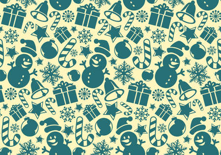 The Seamless background with a Christmas symbols. Illustration