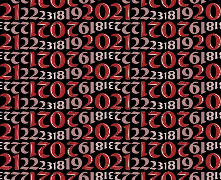The Seamless red background with numbers. Standard-Bild - 158070235
