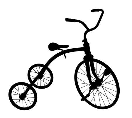 A Silhouette of the children tricycle.