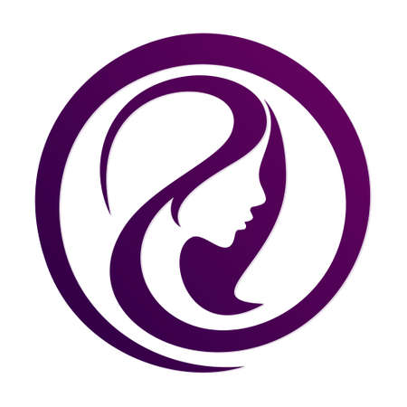 A symbol of a silhouette stylized girl.