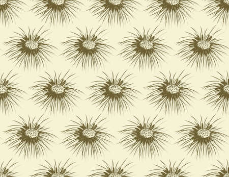 Seamless yellow background with field dandelion.