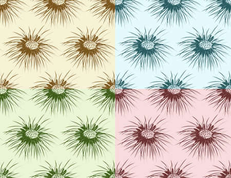 Seamless color background with field dandelion.