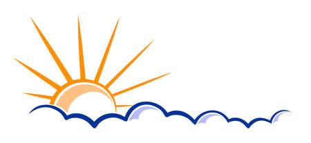 The bright sun and cloud symbol.
