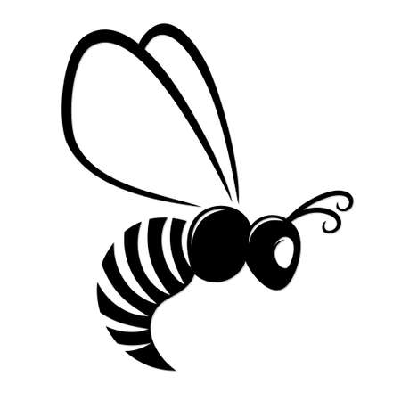 A symbol of the flying stylized wasp. Illustration