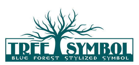 The simbol of a stylized blue tree.