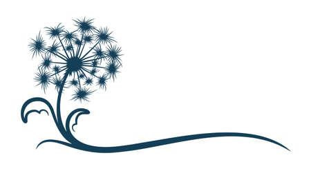 The symbol of field dandelion Flower. Illustration