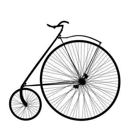 The Silhouette of a retro bike.