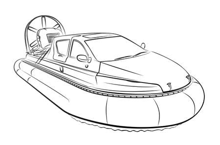 The sketch of a speed Hovercraft.