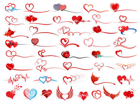 The Big set Symbol of stylized hearts.