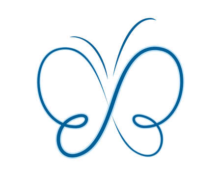 The blue butterfly symbol one line.