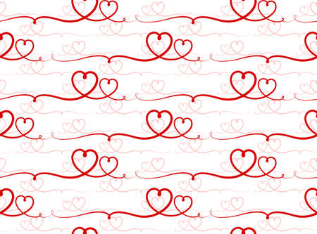 The Seamless background with red hearts. Vectores