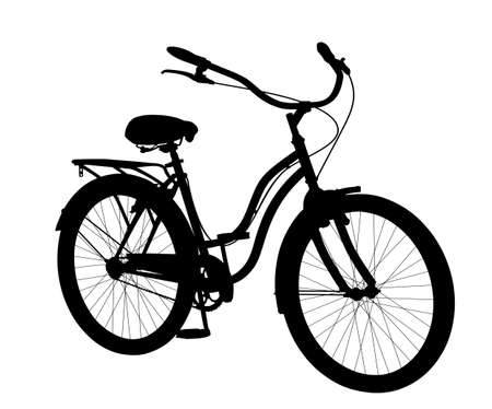 Silhouette of a new city bike.