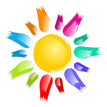 The Symbol of the bright color summer sun.