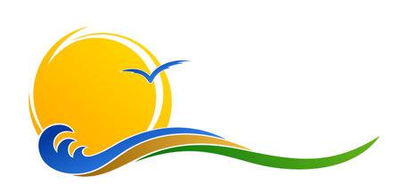 Symbol of the sun, sea and sandy beach.